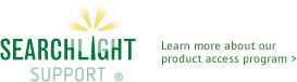 Searchlight support. Learn more about our product access program >